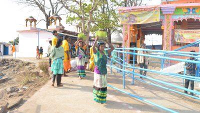 मड़वा रानी मंदिर में नवरात्री पूजा