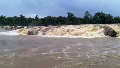 Devpahari Waterfall During Mansoon