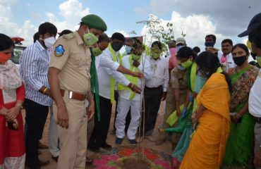 Minister Watering plants