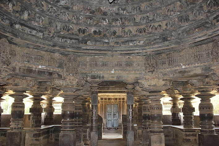 Domical ceiling of Tarakeshwara Temple