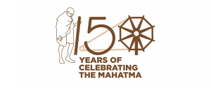 Gandhi Logo 150th birth anniversary of Father of the Nation, Mahatma Gandhi.