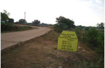 Rs. 5 lakhs Gram Panchayat Chitawar, CC Road constructed amounting to in Takhtpur. District Bilaspur