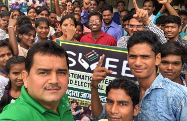 Mission Green Bilaspur campaign by Collector Bilaspur with Competitive Students