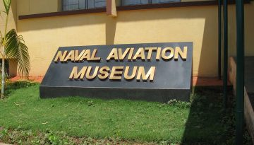 The entrance of Navy Aviation Museum