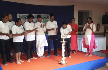 Yoga Day 2018 inauguration by District Collector