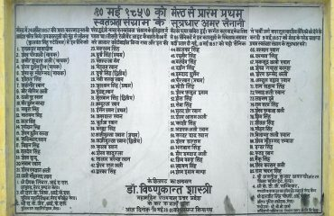 Names of Freedom Fighters of 1857 Revolt at Meerut