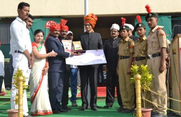 Prize Distribution on Maharashtra Day at Sports Complex