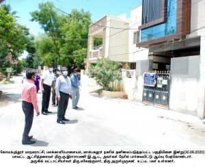 Corona Virus Prevention work industrial park  Inspected by the District Collector