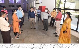 Corona Virus Prevention work CODISSIA industrial park  Inspected by the District Collector
