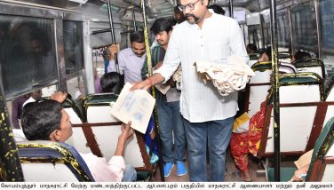 Cloth Carry Bags distribtuted by the Corporation Commissioner