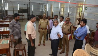 District Election Officer and District Collector Thiru. K.Rajamani I.A.S., Inspected the preparedness of Counting Centre at Govt. College of Technology, Coimbatore on 22/05/2019 for Coimbatore Parliamentary Consituency