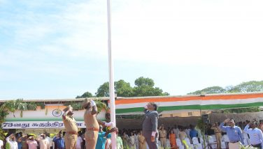 Independance Day Flag was hosted by the District Collector Thiru. K.Rajamani I.A.S, at V.O.C. Ground on 15.09.2018
