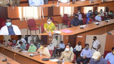 Hon'ble Minister conducted Corona Virus Prevention Review meeting