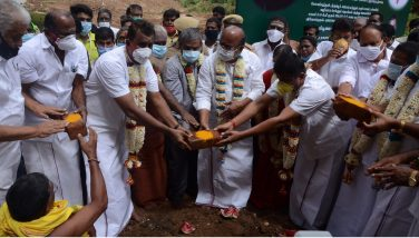 Inaguration of Noyyal river Expansion, Renovation work by the Hon'ble Minister for Municipal Administration