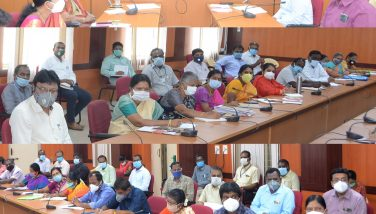 District Collector conducted Corona Virus Prevention Review meeting