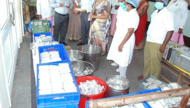 Corona Virus Prevention work ESI Hospital Inspected by the District Collector