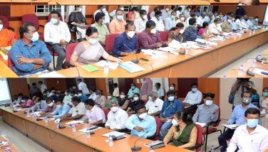 Honble Minister conducted Corona Virus Prevention work review meeting with Private Hospitals and Private Labs representatives