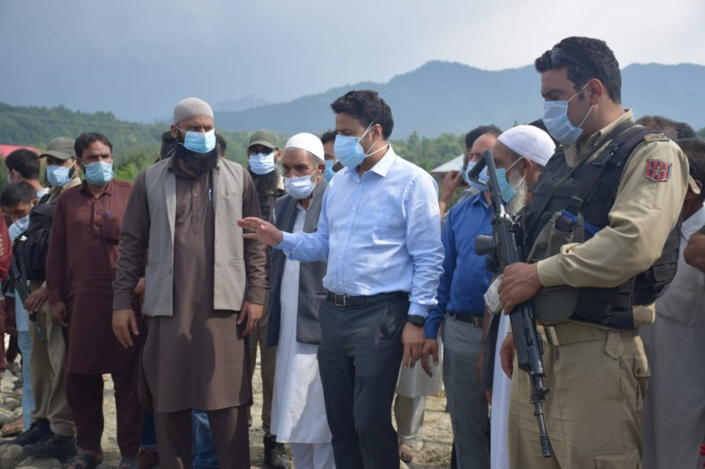 The foundation stone of the work project was laid by DC Kulgam