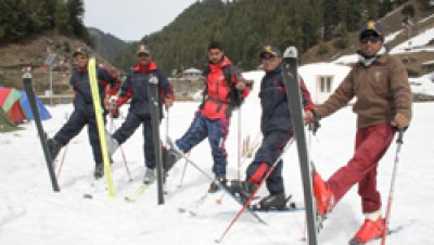 Skiing in Bhaderwah..