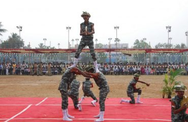 Cultural activity in military outfits