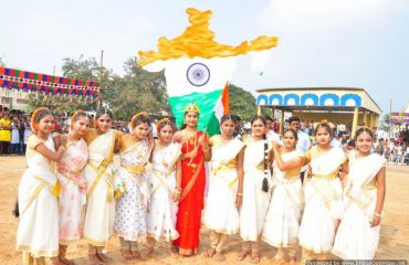 Bharat mata Cultural activity by students