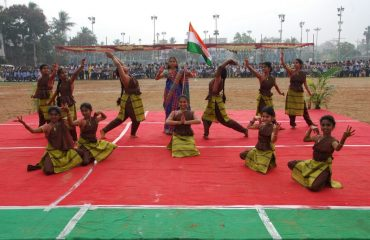 Cultural activity by students - 68th Republic Day Celebrations
