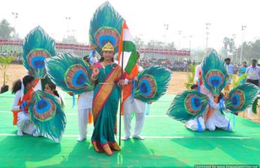 Peacock theme activity by students