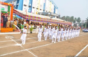 Private school Students parade