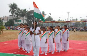 Patriotic activity by students - 68th Republic Day Celebrations