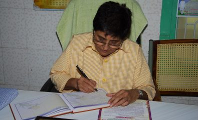 LG signing visitor book