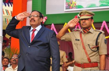 RA & SP saluting parade