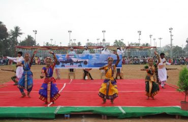 Traditional dance by students