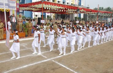 Parade by School students - 68th Republic Day Celebrations