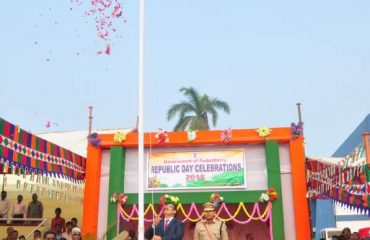 RA unveiling national flag
