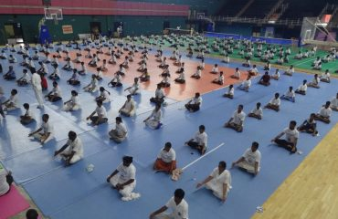 yoga performance by participants