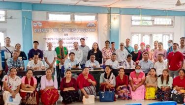 District Level Training Programme People's