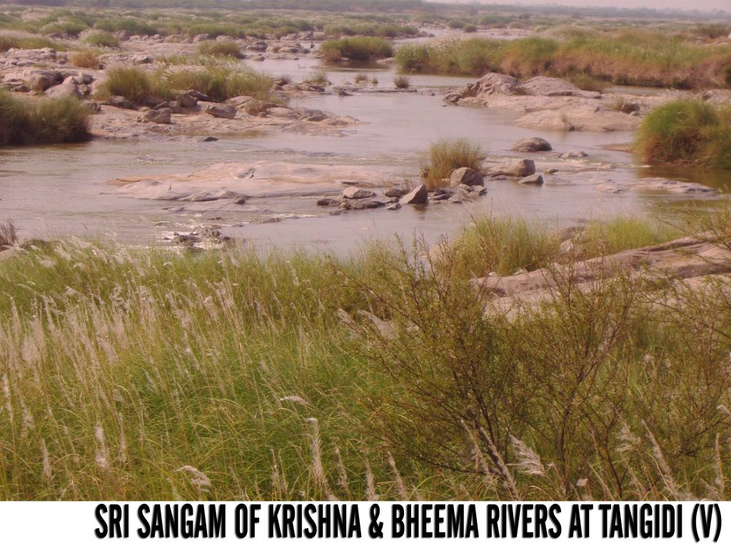 Sri Sangam of Krishan and Bheema Rivers at Tangidi Village,Makthal Mandal