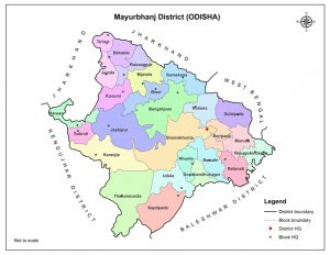 Map of Mayurbhanj
