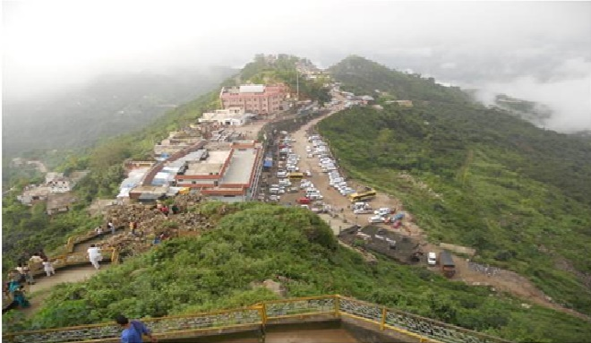 Sh Naina Devi Arial View of Temple
