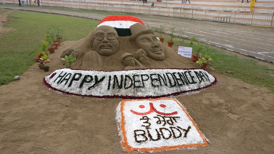 Sand Art during Independence Day