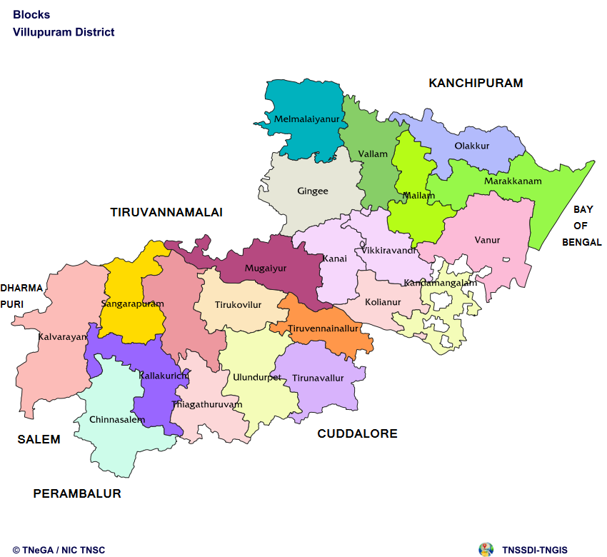Maps | Viluppuram District, Govt of Tamil Nadu | India