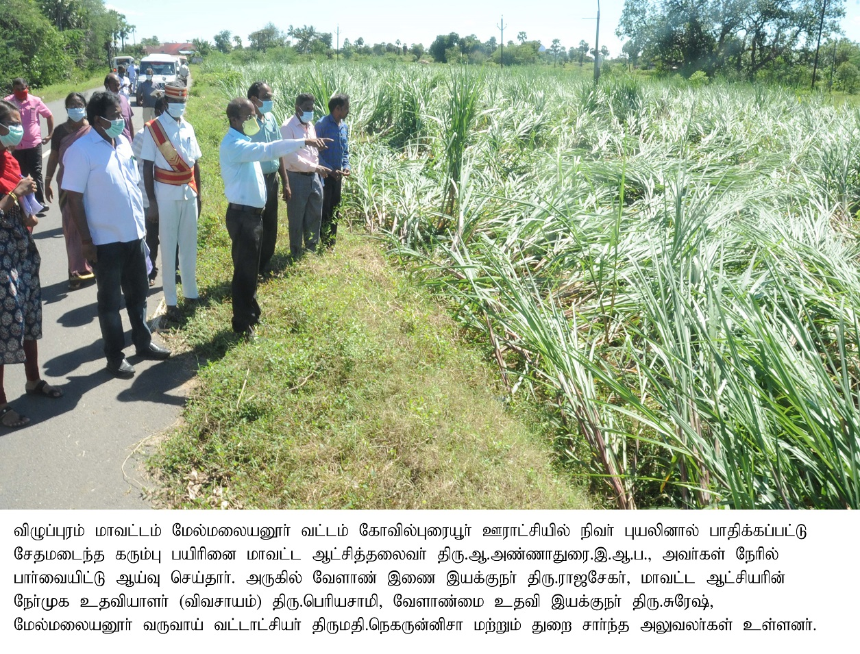 Nivar cyclone - District Collector Inspection