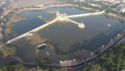 Complete Arial View of renovated Lakhota lake