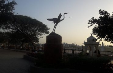 BirdStatue at Lakhota bank