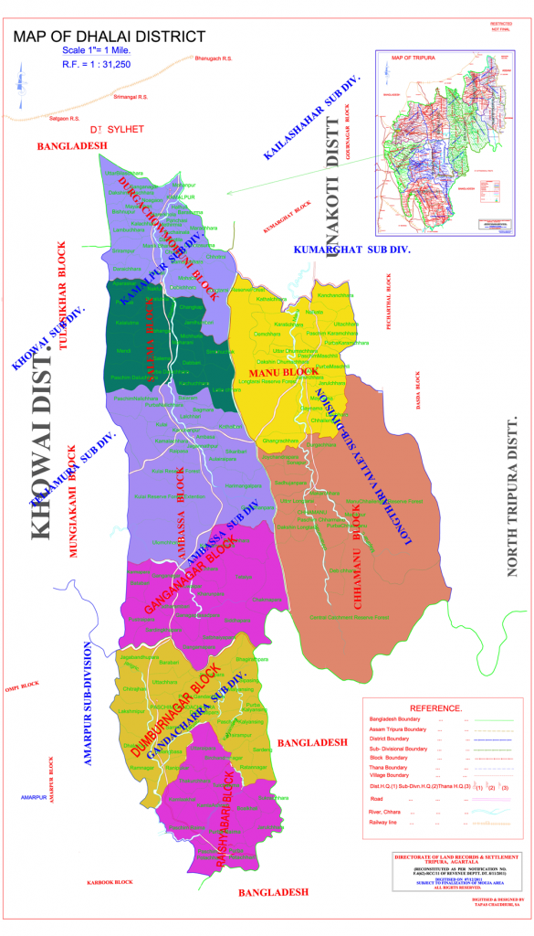 dhalai district map