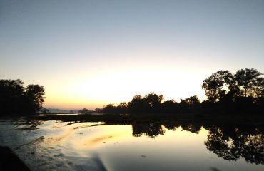 Sunset at Dumboor Lake
