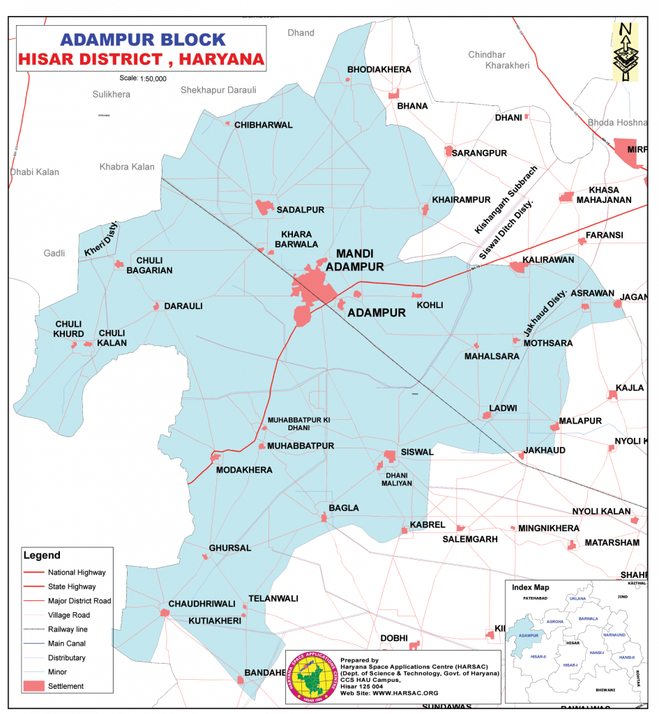 Block Adampur Map
