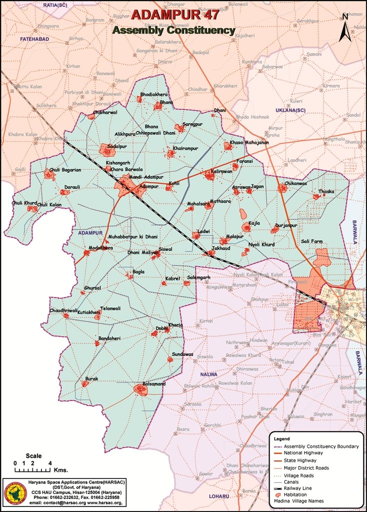 Assembly Constituency Adampur Map