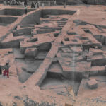 Excavated Harappan residential complex, hisar