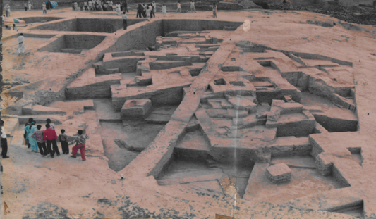 Excavated Harappan residential complex